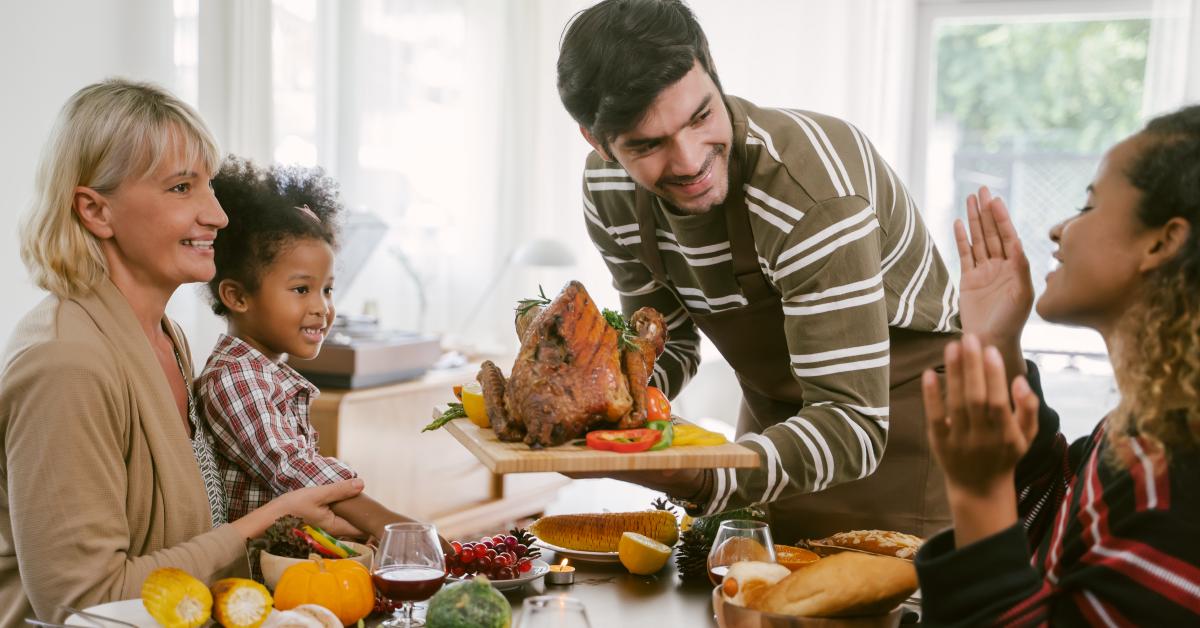 family celebrating the holidays