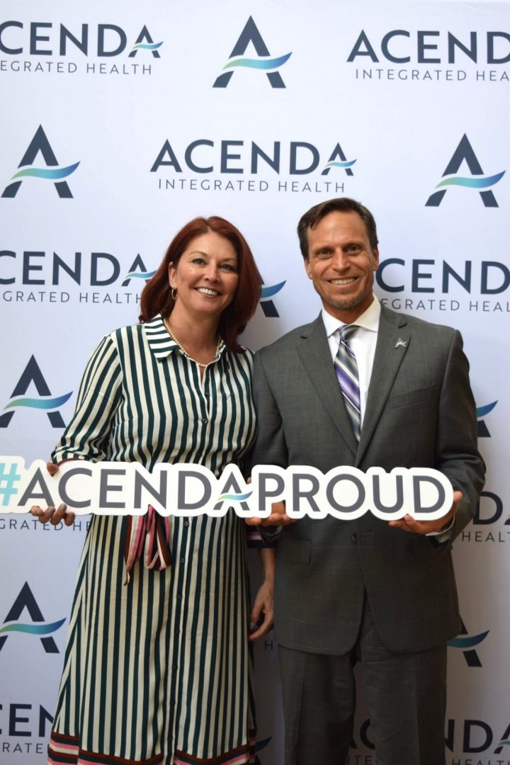 Lisa Morina and Anthony DiFabio pose for Acenda Merger & Brand Launch July 2019