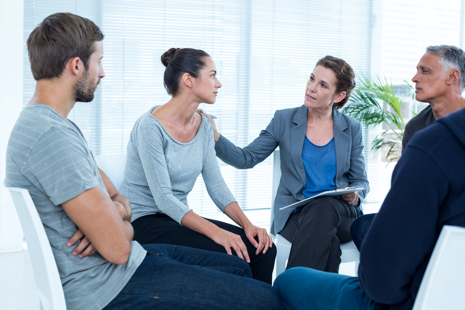 group people in therapy session