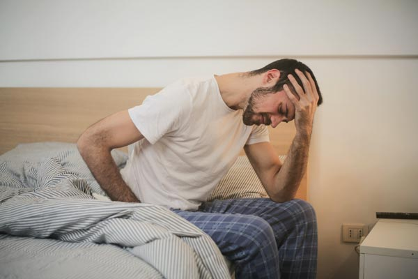 young man with chronic pain