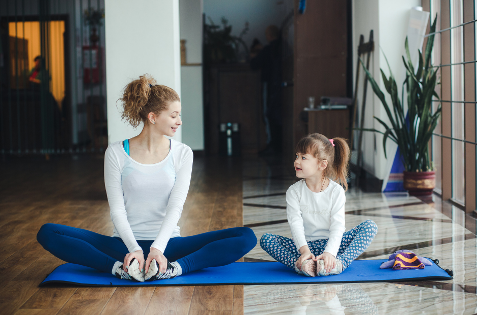 mother daughter yoga family fit lifestyle month
