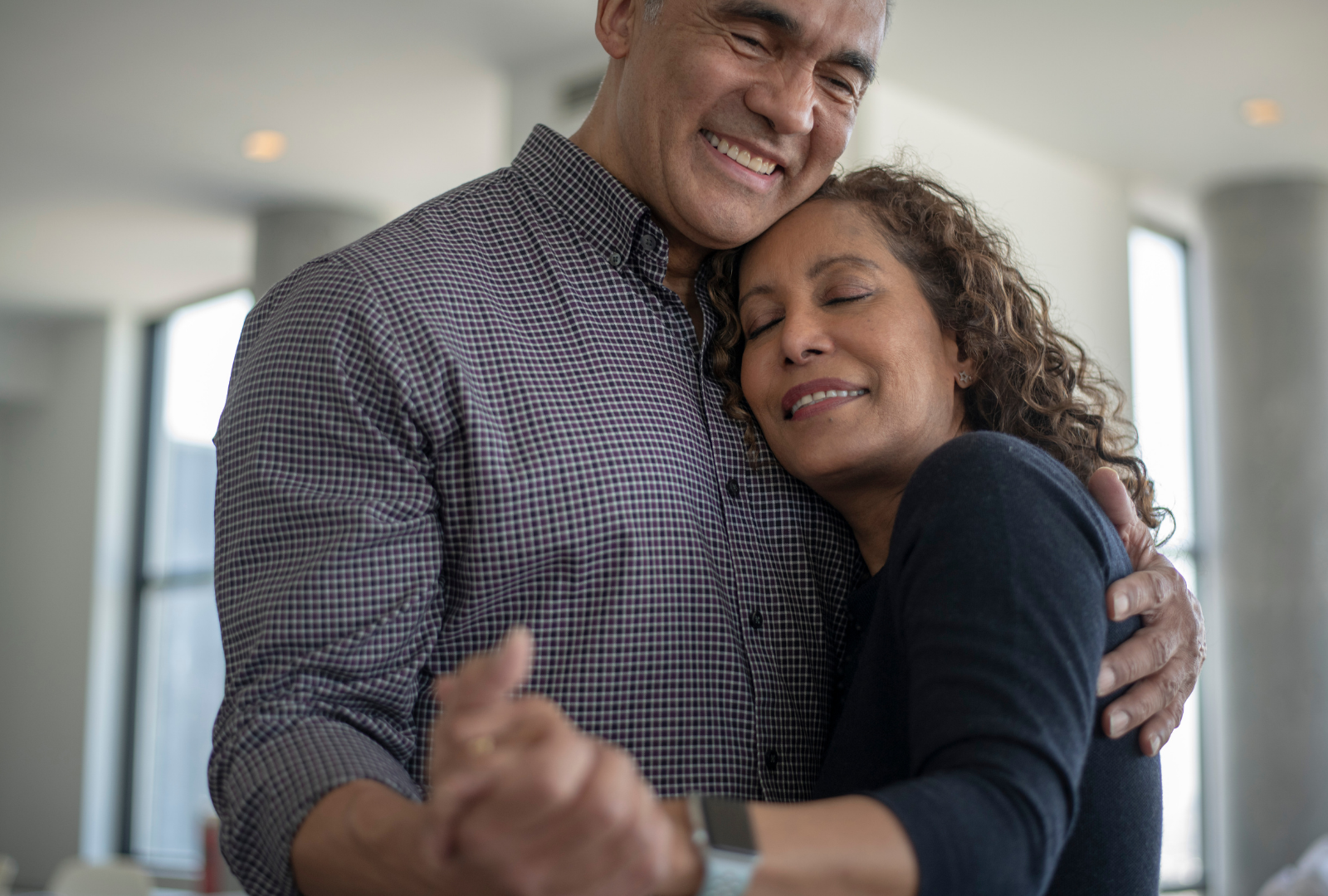 older couple dancing empty nest syndrome