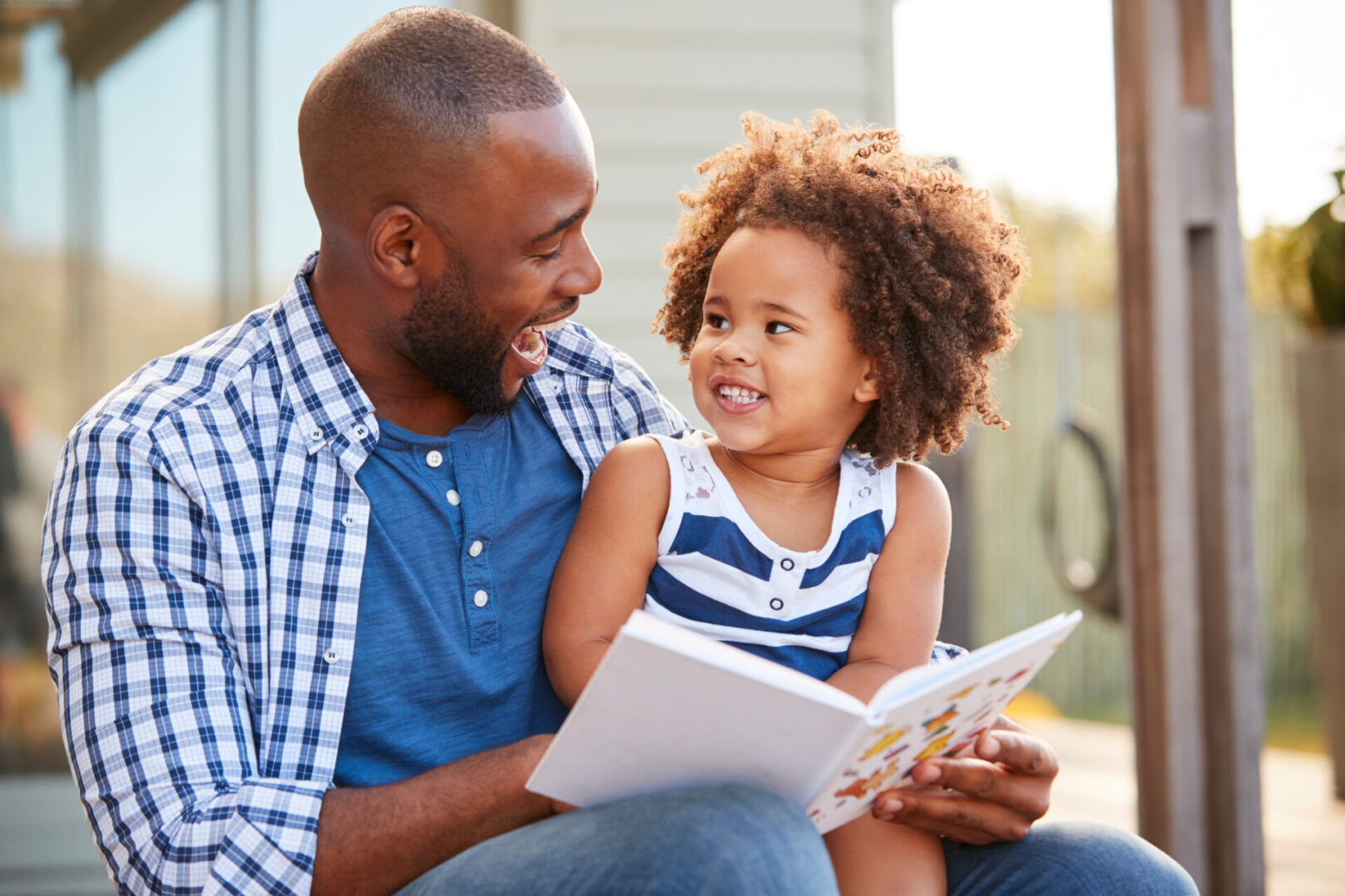 black father and child purposeful parenting