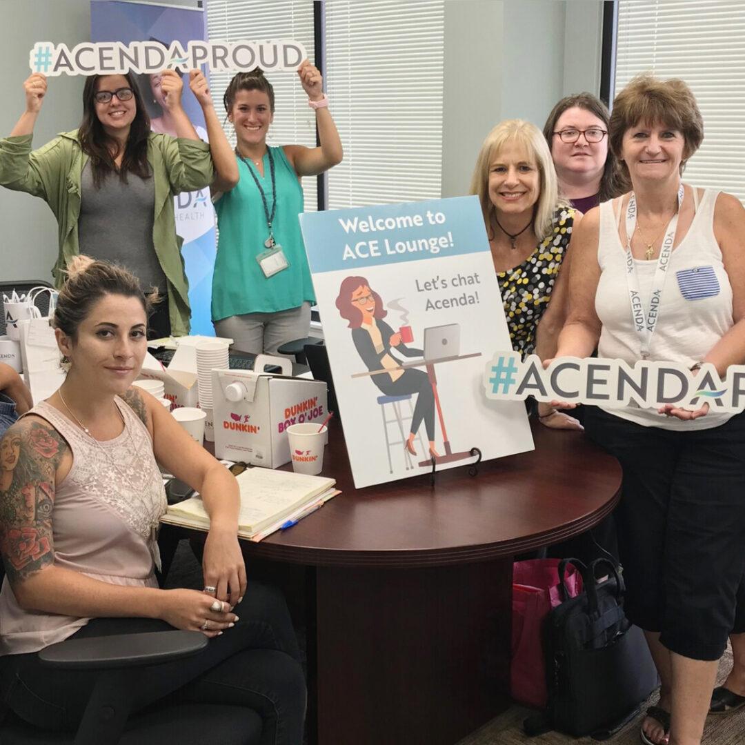 Team Acenda posing for a group photo